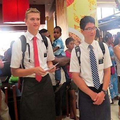 Young Missionaries Celebrate Christmas in Fiji