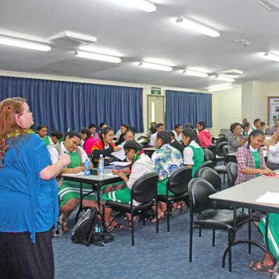 Author of 'Clean' Books Inspires Tongan Youth to Read and Write