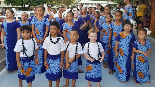 Children Perform for Families and Friends at American Samoa Flag Day Celebration
