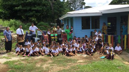 'Angels' Bring Gifts to Pre-School in Talau, Tonga