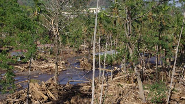 Devastation caused by Cyclone Evan in Samoa December 2012