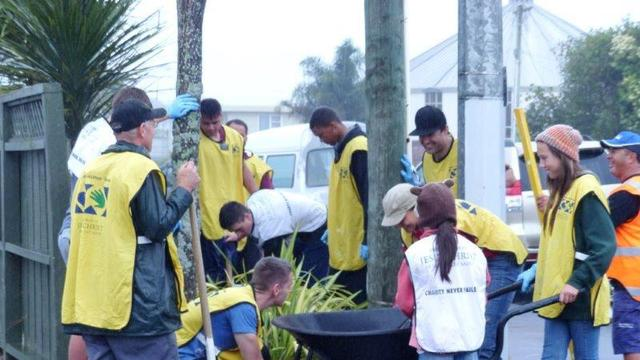 Harbour Stake, New Zealand, Mormon Helping Hands volunteers, 22 February 2014
