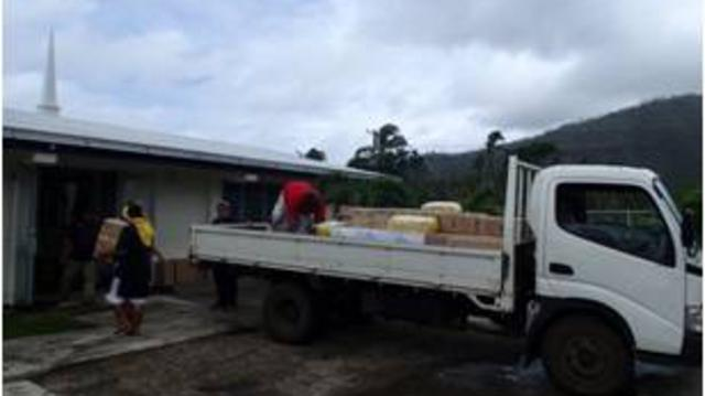 Samoa Relief Supplies Cyclone Evan
