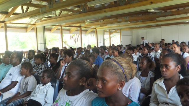 Solomon Islands Mormons View General Conference on 14 October 2012.