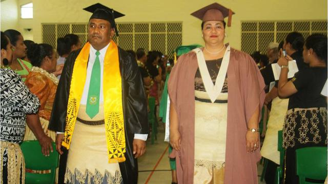 King and Queen of Tonga at Liahona High School Graduation 2012