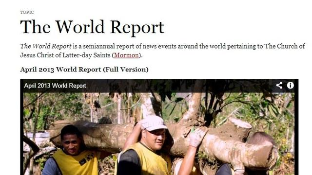 The World Report April 2013 Cyclone Evan