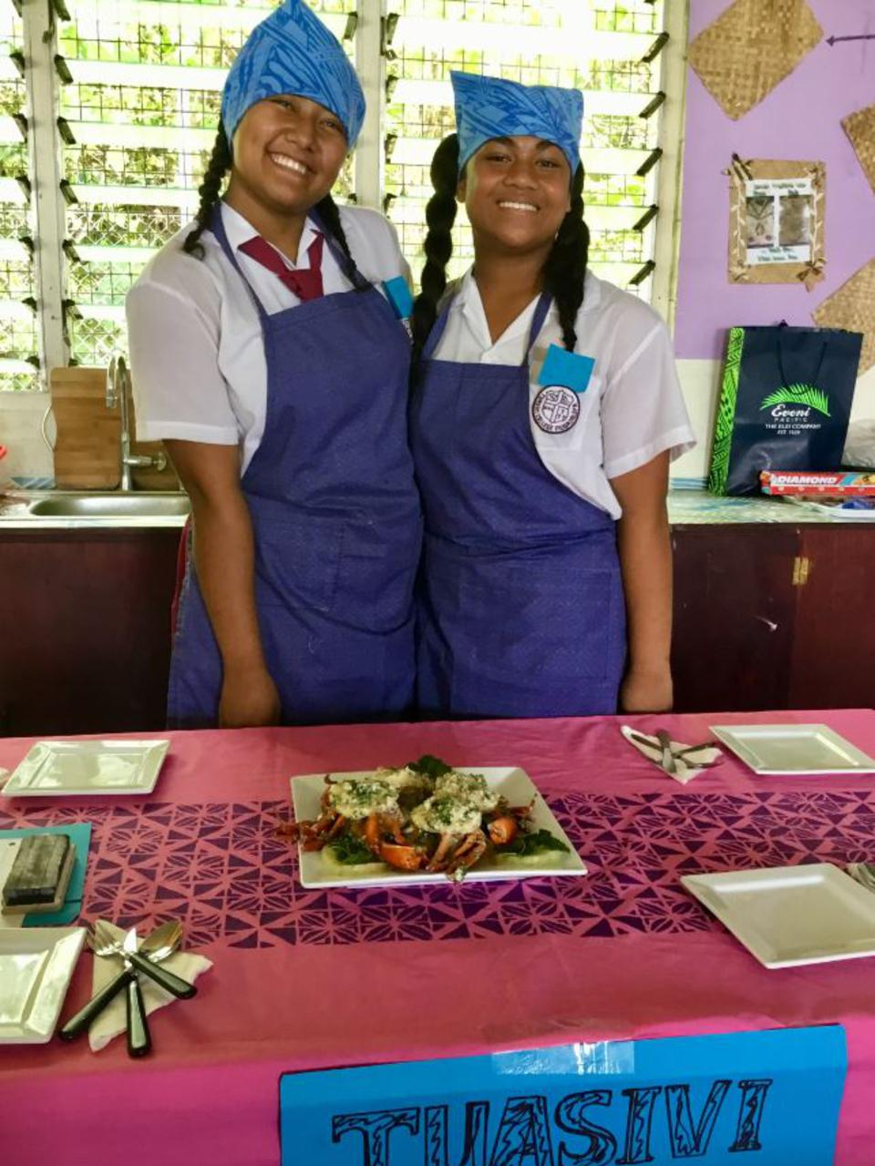 Young Chefs in Samoa Cook up a Feast of Healthy Dishes