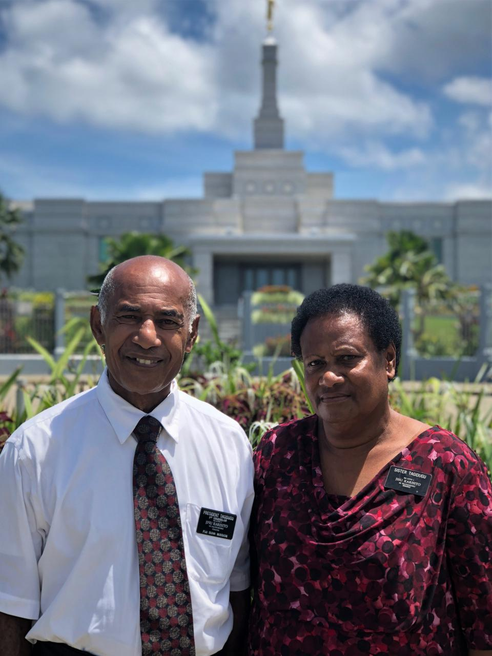 Fiji Couple Count Blessings from Missionary Service