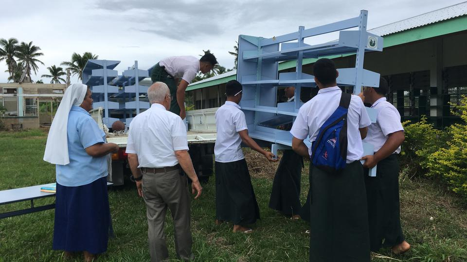Tonga School Receives Library Supplies After Cyclone