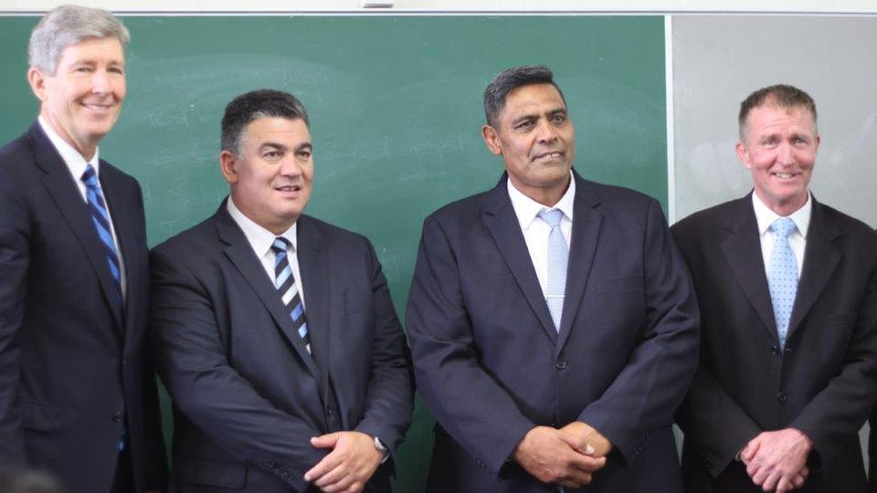 Elder S. Gifford Nielsen with New Whangarei Stake Presidency