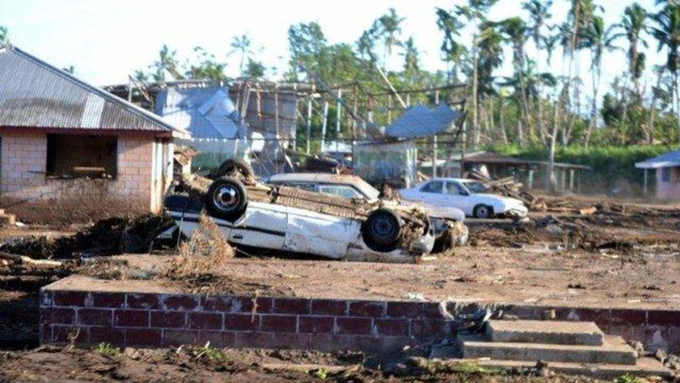 Devastation caused by Cyclone Evan in Samoa December 2012.