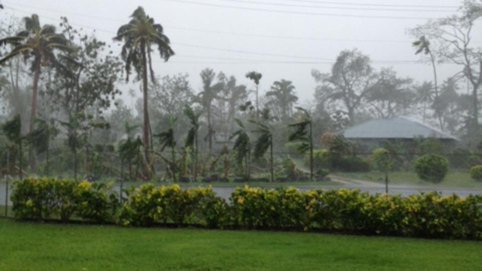 Rain and gale-force wind from Cyclone Evan 2012