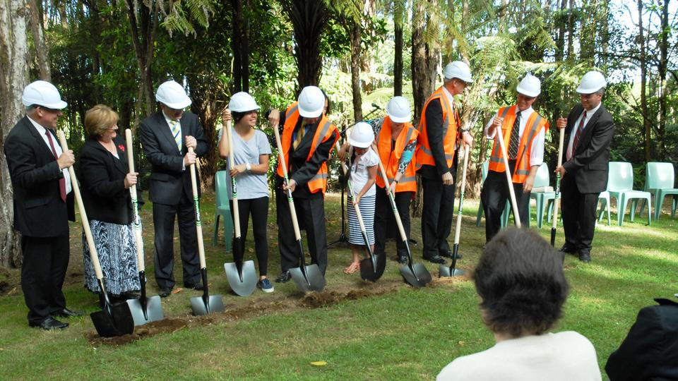 Groundbreaking Ceremony at Camp Tuhikaramea - 4 Nov. 2013