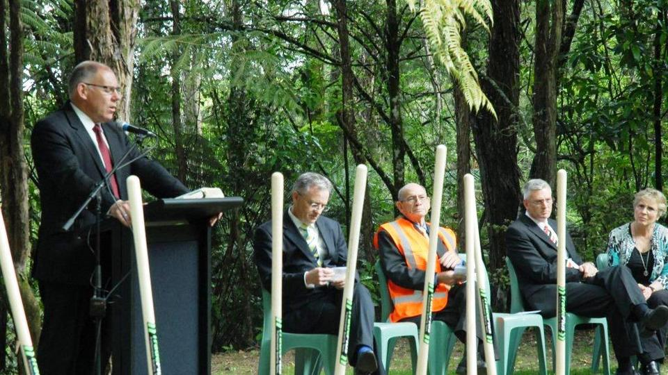 Groundbreaking Ceremony at Camp Tuhikaramea