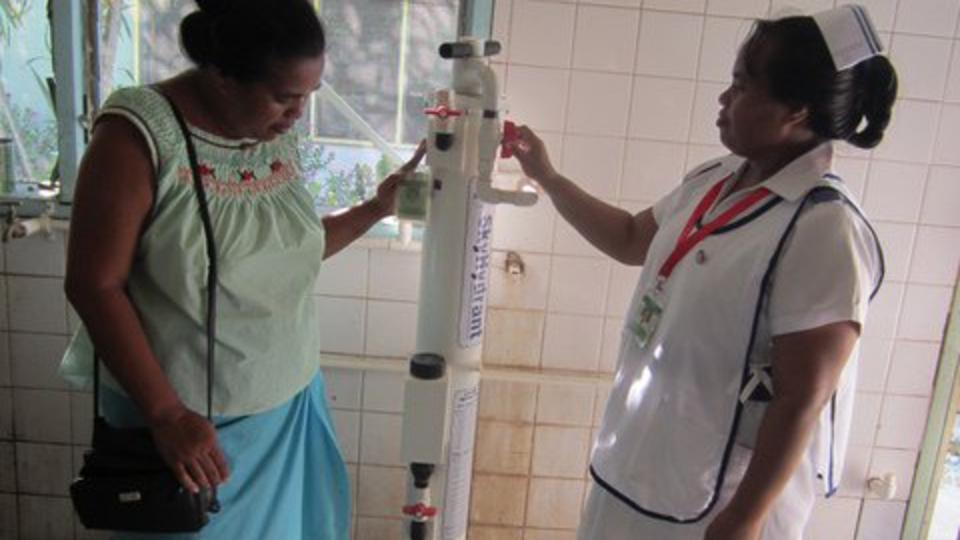 Kiribati water purifying system