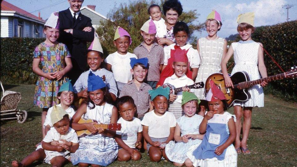 Matthews family birthday party march 1964 Inglewood New Zealand