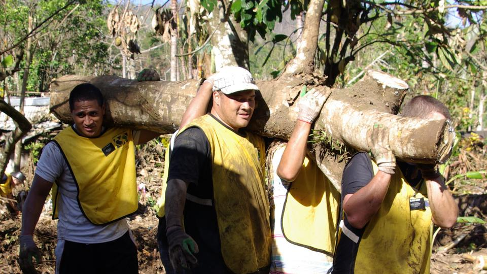 Samoa missionaries Cyclone Evan cleanup 1