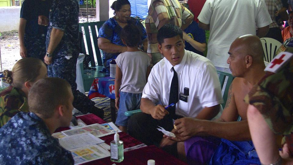 Missionaries interpret for Pacific Partnership 2013 Samoa