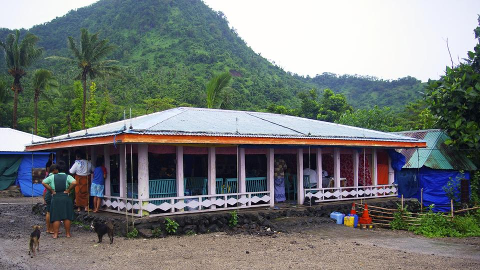 Fale (home) is used as the medical clinic for Pacific Partners -   Samoa 201313