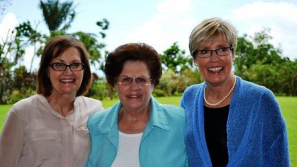 Sisters Burton, Watson and Wixom in Samoa Feb 2013