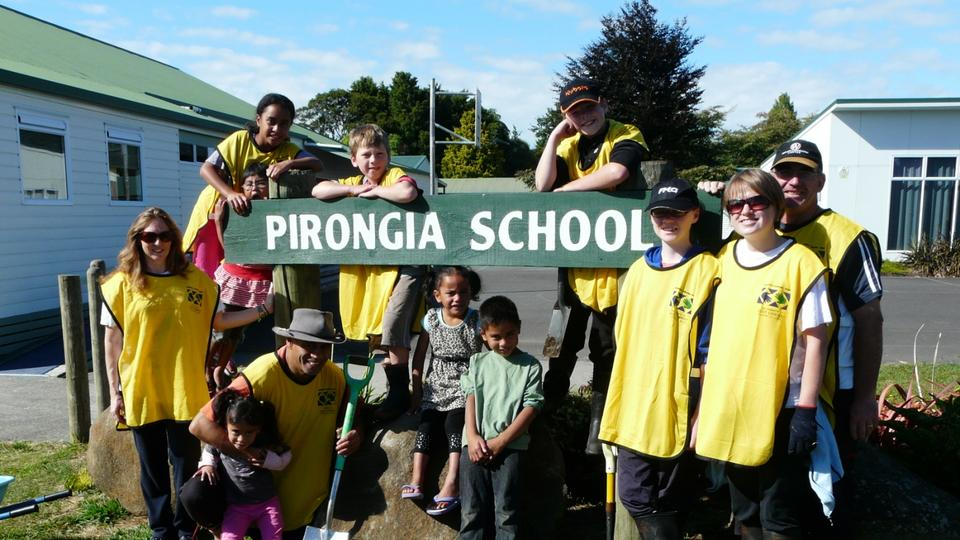 Helping Hands at Pirongia School