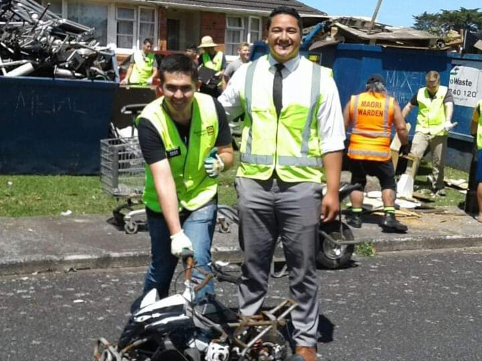 Missionaries Help Council and Residents Tidy Streets