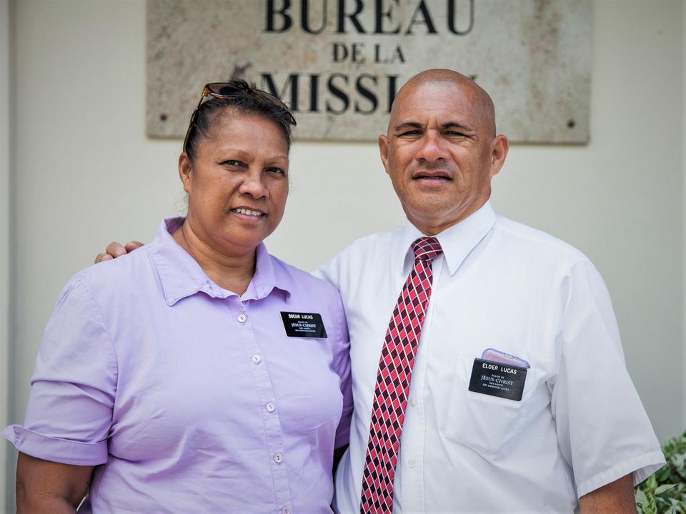 French Polynesian Couple Accepts the Invitation to Serve their Church and Community