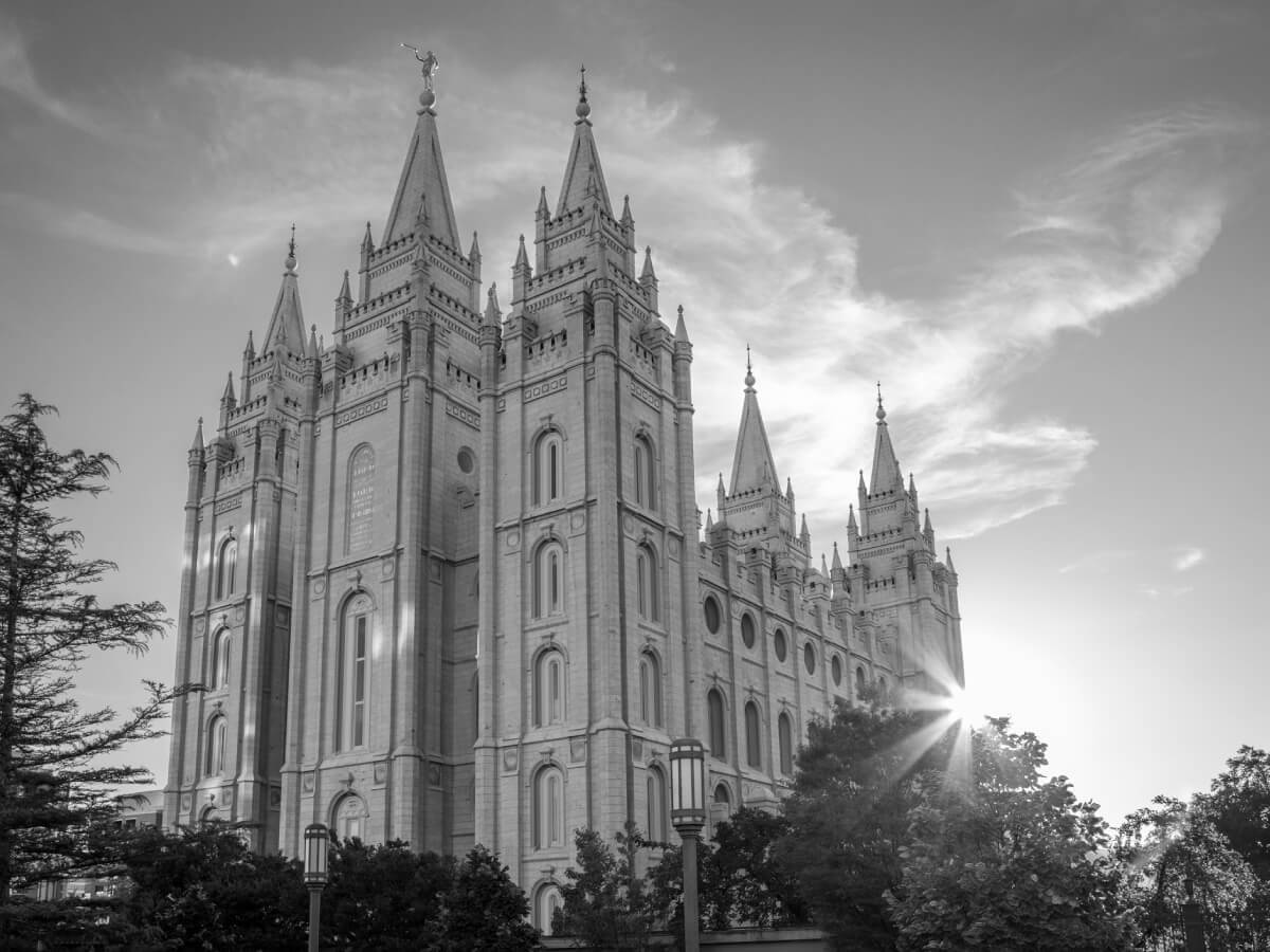 Latter-day Saints affirm the sanctity of marriage.